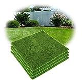 Alfombra verde, césped sintético, prado artificial de 30x 30cm..