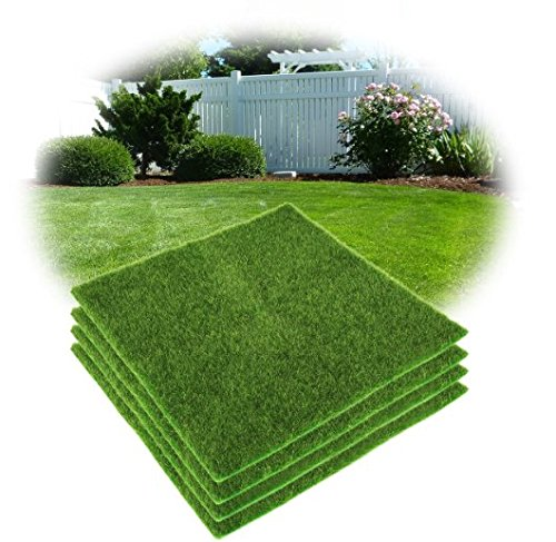 Tappeto Verde erba Tappeto in erba Prato sintetico erboso artificiale 30*30cm