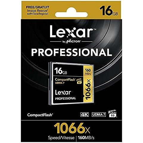 Lexar Professional - Tarjeta de memoria CompactFlash 1066x de 16 GB