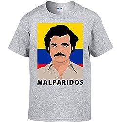 Camiseta Narcos Pablo Escobar malparidos - Gris, M