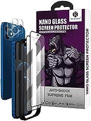 واقي شاشة الخصوصية من الزجاج النانو، واقي شاشة مع واقي للعدسة لهاتف آيفون 12 ميني من ريمسون