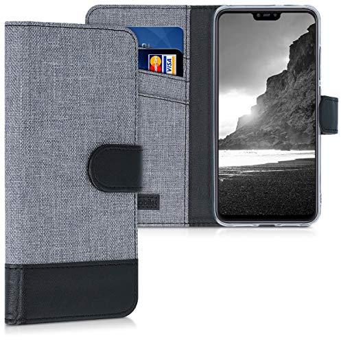 kwmobile Xiaomi Mi 8 Lite Hülle - Kunstleder Wallet Case für Xiaomi Mi 8 Lite mit Kartenfächern & Stand