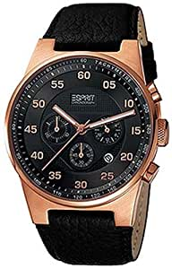 Esprit Herren-Armbanduhr XL Grand Legend Rosegold Analog Leder ES101911004