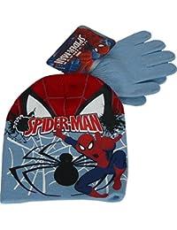 Niños Marvel Spiderman Conjunto de gorro y Guantes Light Azul