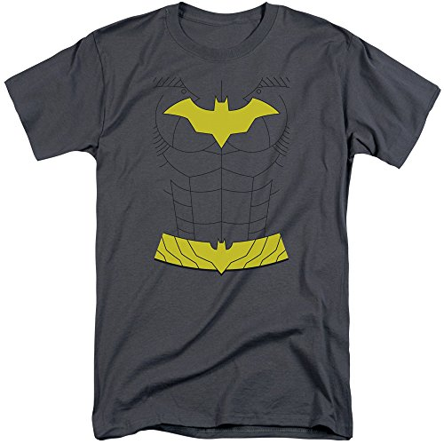 Kostüm Neue Batman - Batman Das neue Batgirl-Kostüm-T-Shirt der Männer, XXX-Large, Charcoal