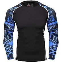 Cody Lundin negro manga color hombres fitness de camiseta ropa interior hombre de manga larga camiseta