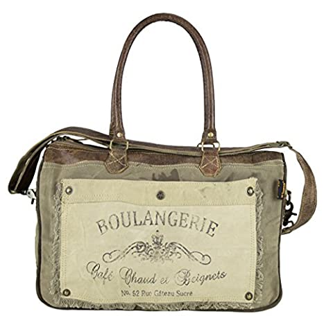 Sunsa Damen Vintage Tasche Shopper Umhängetasche Schultertasche Handtasche aus Canvas