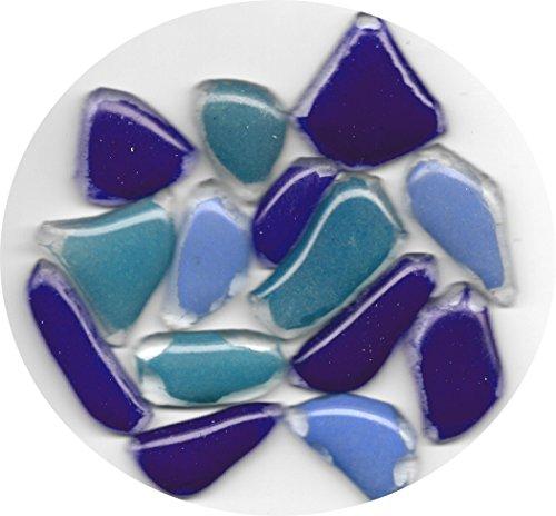 ALEA Mosaic Mosaik, Glass Bits, 10~40 mm, Mix 250g Blau/Violett -