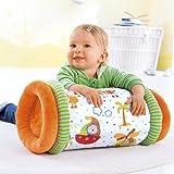 Solini Krabbelrolle mit Stoffbezug / Baby Spielzeug / erste Krabbelversuche / ab Geburt / bunt