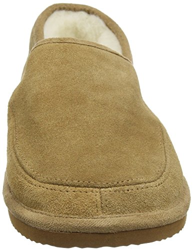 SNUGRUGS Suede with Wool Lining and Rubber Sole, Chaussons Mixte Adulte, 37 EU Marron - Marron (kamel)