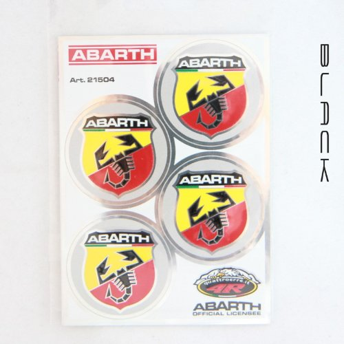 Set 4 adesivi Logo Abarth Cod. 21504