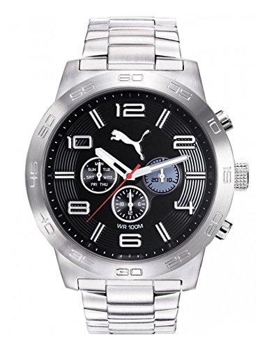 PUMA Hommes Chronographe Quartz Montre avec Bracelet en Acier Inoxydable PU104221003