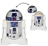 Unbekannt Eierbecher mit Deckel -  Star Wars - R2-D2  - Porzellan / Keramik - Eier Halter - für Erwachsene & Kinder - Roboter Droide - Starwars Clone - Eierwärmer - Küche Zubehör / Krieg der Sterne