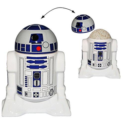 Land Frühstückstisch (Unbekannt Eierbecher mit Deckel -  Star Wars - R2-D2  - Porzellan / Keramik - Eier Halter - für Erwachsene & Kinder - Roboter Droide - Starwars Clone - Eierwärmer - K..)