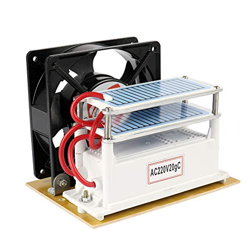 KKmoon 20g/h Ventilador del purificador del filtro de aire de la máquina de la desinfección del generador del ozono del Portable 220V para la esterilización del coche casero