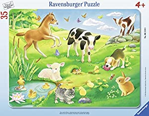 Ravensburger Puzzle 06119–Animales en la pradera de 35piezas Marco Puzzle