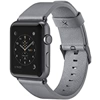 Belkin Classic Leather Apple Watch Strap for 38 mm Apple Watch Series 1 and 2, Made from Genuine Italian Leather - Grey