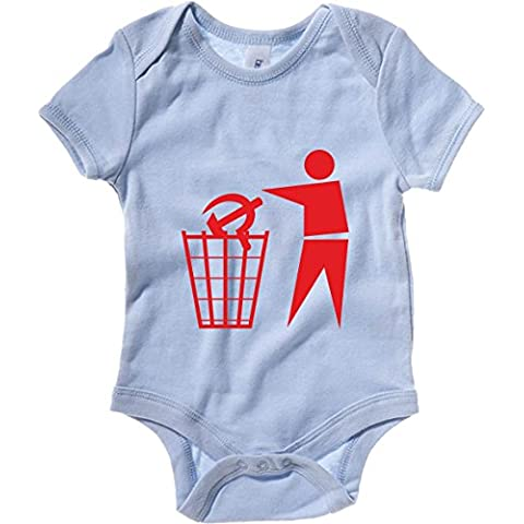 T-Shirtshock - Body neonato T0887 cestino falce e martello comunismo politica