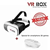 MacBerry Oppo Neo 7 4G Compatible VR BOX 2.0 Virtual Reality Glasses, 2016 Hottest 3D VR Headsets for 4.7~6 Inch Screen Phones with bluetooth remote control