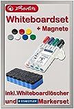 Herlitz Whiteboard und Magnettafel, 40 x 60cm  mit verschiedenem Zubehör zur Auswahl (Board + Löscher + Marker + Magnete)