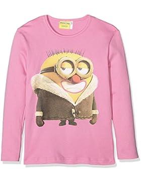 MINIONS Mädchen T-Shirt Maglia M/l Intimo Ragazza