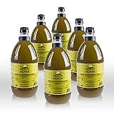 Monte Olivos - Aceite de Oliva Virgen Extra - sin filtrar nueva campaña 2018 - 6 botellas de 2 litros