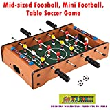 #6: TOY-STATION Mid-Sized Foosball, Mini Football, Table Soccer Game- 4 Sticks