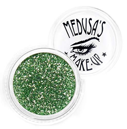 Kostüm Augen Medusa - Medusa's Make-Up Glitzer-Lidschatten Glitter, loser Glitzer für Nägel, Haare und Gesicht (Key Lime Pie)