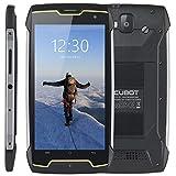 Télephone Portable Debloqué Incassable, CUBOT King Kong Smartphone 5.0 '' étanche, 2Go+16Go, Double SIM, 4400mAh, 12 MP, NFC, IP68 Imperméable Antichoc, Antipoussière, Noir