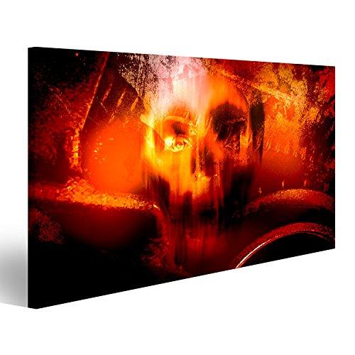 islandburner Bild Bilder auf Leinwand Horror-Schädel, Horror- für Halloween wie Film Plakat Wandbild Leinwandbild Poster (Halloween Wie Filme)