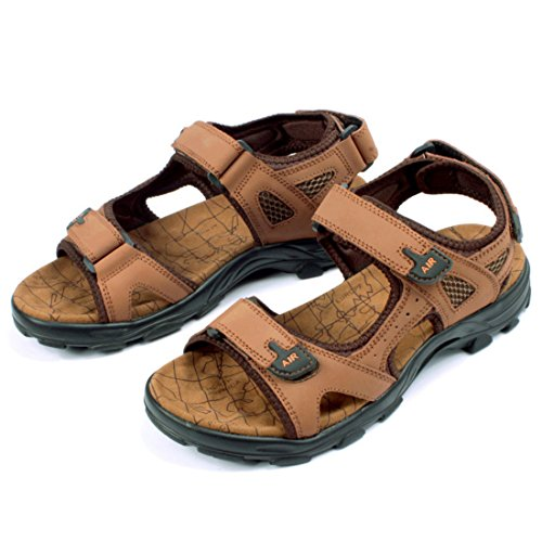 Men's Genuine Leather Breathable Causal Sandals brown