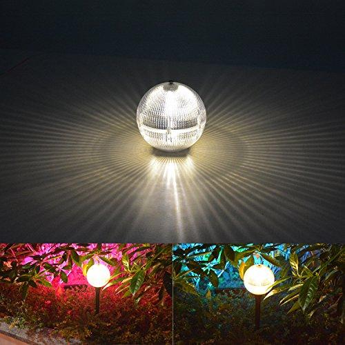 YOUKOYI Garten LED Solar Kugelleuchte Solar Powered Globe Kugel Licht LED Garten Beleuchtung LED Solar Outdoor Globe Lampe