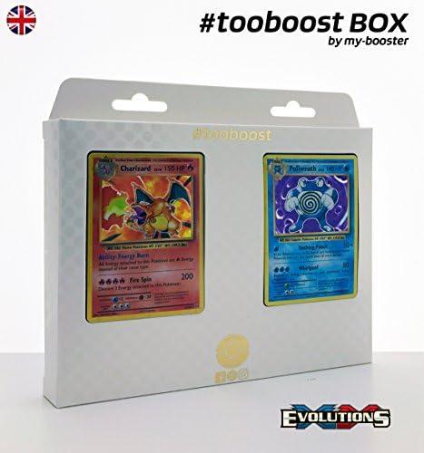 Coffret tooboost CHARIZARD (Dracaufeu) et POLIWRATH POLIWRATH POLIWRATH (Tartard) - XY12 Evolutions - 10 cartes Pokemon anglaises 905c3e
