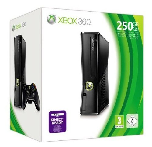 Xbox 360 Console 250 GB - Matte Black Finish [Edizione: Regno Unito]