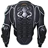 German Wear – Chaqueta protectora para motocicleta, color negro