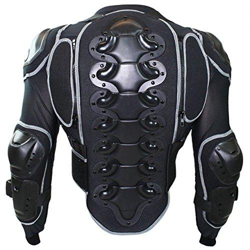 German Wear - Giacca con Protezioni per Moto, Nero, M