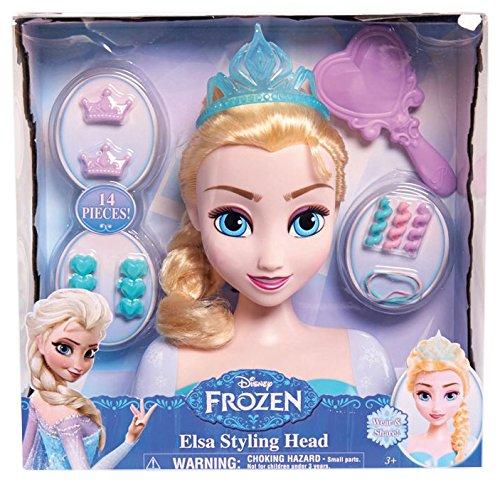 Disney - La Reine des Neiges - Princesse Elsa - Tète à Coiffer 20 cm et Accessoires