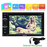 Android 6.0 Eibisch HD 1080P Auto-Stereoautoradio Doppel-DIN-Head Unit GPS-Navigations-DVD CD-Player Car Entertainment Bluetooth WIFI Radio RDS FM / AM-Empf?nger-Unterst¨¹tzung OBD 3G / 4G USB-Sd Externes Mikrofon inklusive!