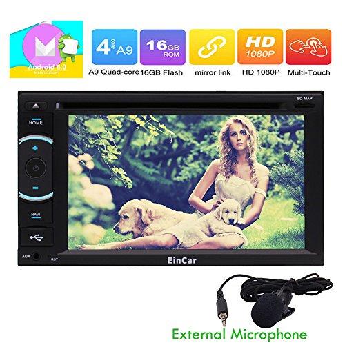 Android 6.0 Eibisch HD 1080P Auto-Stereoautoradio Doppel-DIN-Head Unit GPS-Navigations-DVD CD-Player Car Entertainment Bluetooth WIFI Radio RDS FM / AM-Empf?nger-Unterst¨¹tzung OBD 3G / 4G USB-Sd Externes Mikrofon inklusive!