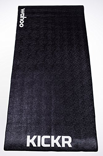 Wahoo KICKR Trainning Mat, color negro, 91.4 x 198.1 cm