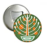 DIYthinker Topfpflanze Mexiko Totems Antike Kultur Runde Flaschenöffner Kühlschrank Magnet Pins Abzeichen-Knopf-Geschenk 3pcs Silber