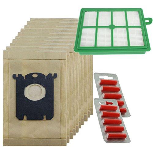 spares2go stark Staub Taschen und EFH12Filter Kit für Electrolux Oxygen Staubsauger (Pack 10Staubsaugerbeutel + 1Filter + 10Reinigertabs) -