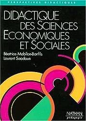 DIDACTIQUE DES SCIENCES ECONOMIQUES ET SOCIALES