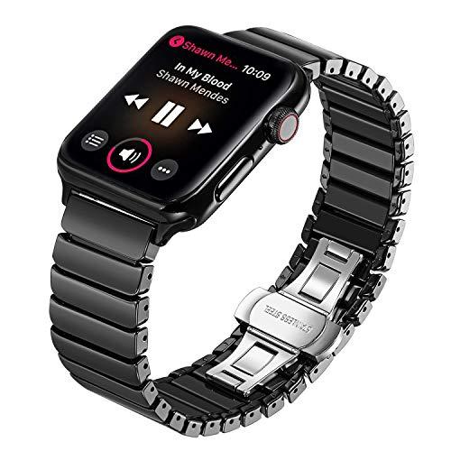 TRUMiRR Armband kompatibel Für Apple Watch 42mm Armband, Voll Keramik iWatch Straps Ersatzband Uhrenarmband Wristband für iWatch Series 3,Series 2,Series 1+Quick Release Adapter(Keine Schrauben mehr)