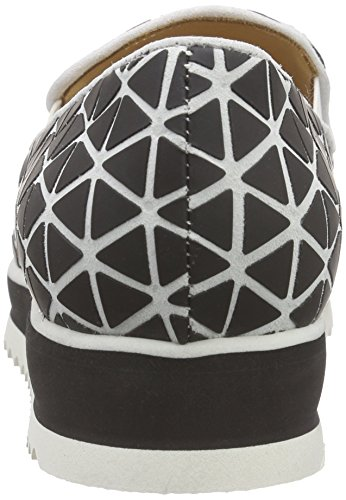 Objects in Mirror B021, Baskets Basses femme Multicolore - Mehrfarbig (BIANCO/NERO)