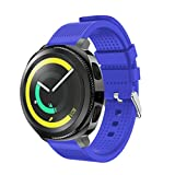 Covermason For Samsung Gear Sport Strap Band, Bands Strap Silicone For Samsung Gear Sport Wristband Accessory Fitness Sport Watchbands,For Samsung Gear Sport Strap Bands, Soft Adjustable Replacement Sport Wristband (Blue)