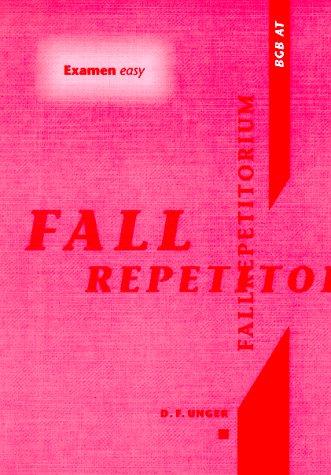 Fallrepetitorium, BGB, AT