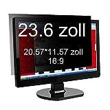 Xianan 23.6 zoll Widescreen 16:9 Displayfilter Bildschirmfilter Blickschutzfilter Blickschutzfolie Blickschutz