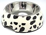 Futternapf Napf Hundenapf schwarz gemustert Größe L 700 ml