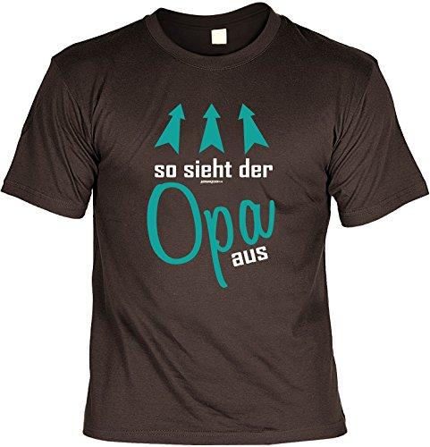 T-Shirt - So sieht der Opa aus - cooles Shirt mit lustigem Spruch als Geschenk für Opa Braun